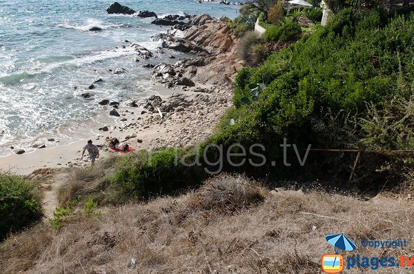 Accesso spiaggia della Calanque