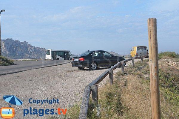 Parking de la calanque blanche - Marseille