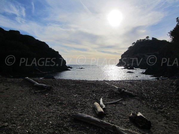 Calanque dans le sud de l'île Porquerolles