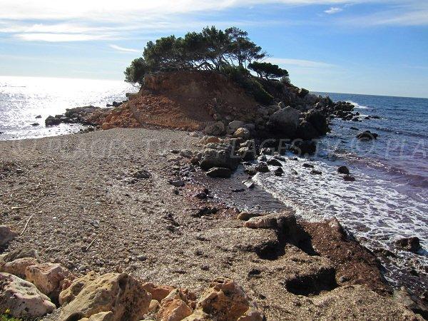 Vue sur la presqu'île des Capélan de Bandol