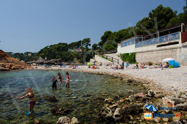 Overview of the calanque of Capelan in Bandol - France