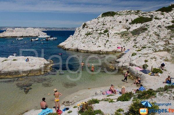 Sand beach in Frioul island - La Crine