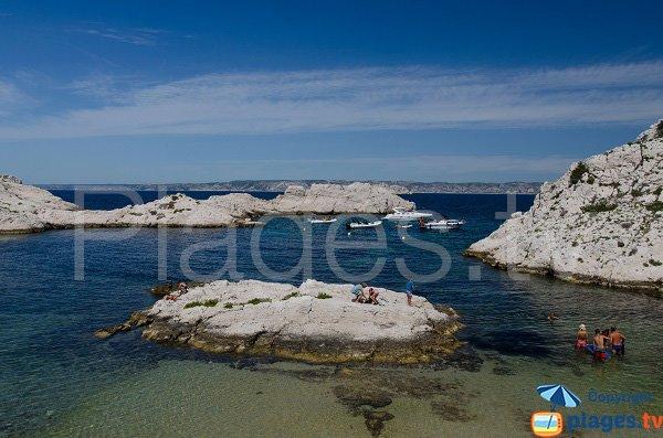 Crine island in Frioul