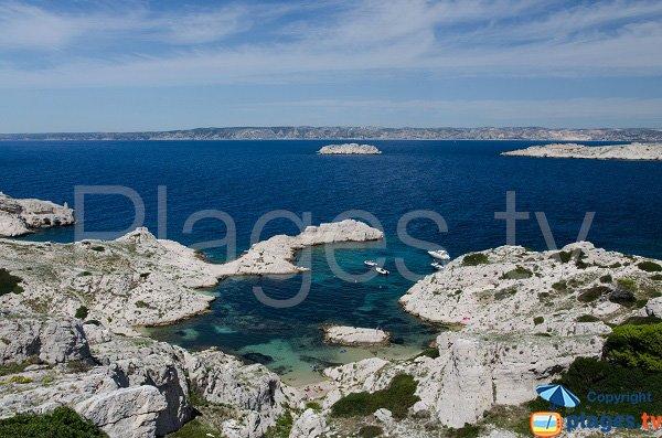 Photo de la calanque de la Crine sur les iles de Frioul