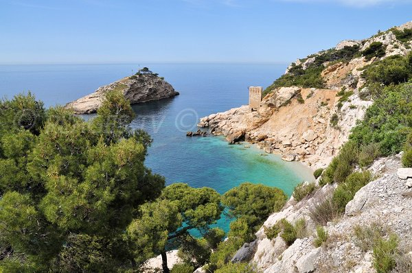 Photo of Calanque Erevine on the Blue Coast in France