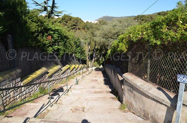 Escaliers de la calanque de Figuerolles