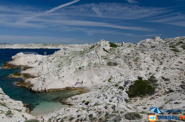 Photo of the calanque of Flancadou in Frioul Island - Marseille