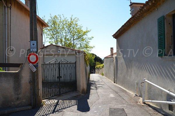 L'accesso della calanque del Grand Mugel a La Ciotat
