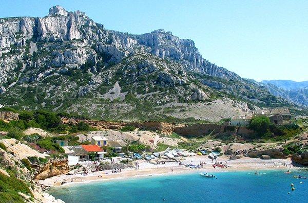Spiaggia della calanque di Marseilleveyre - Marsiglia