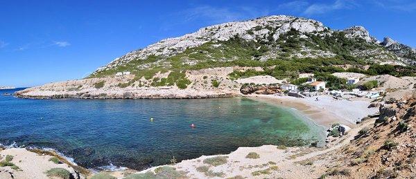 Photo de la calanque de Marseille côté Est (Marseilleveyre)