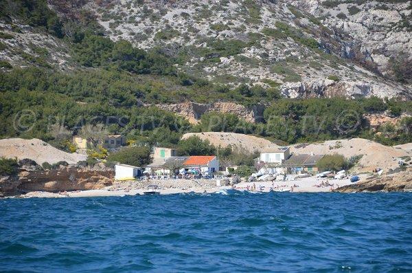 First calanque in Marseille - Marseilleveyre