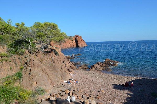 Spiaggia di Maupas a Agay - Francia