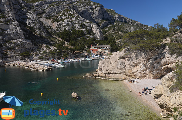 Beach in the calanque of Morgiou in France