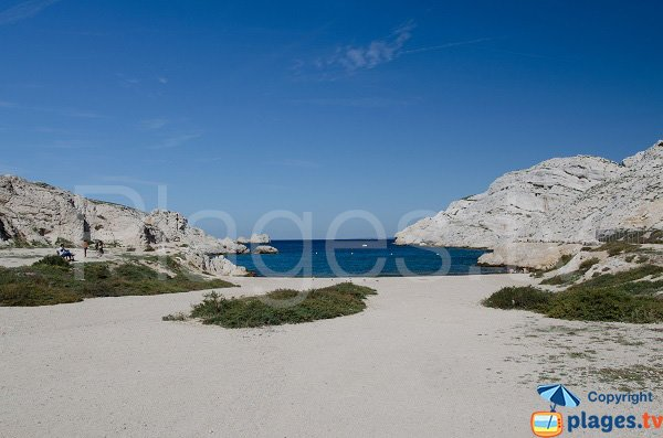 Calanque of Morgiret in Frioul in Marseille