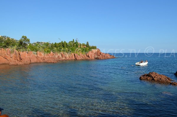 Red rock in Esterel in Agay in France