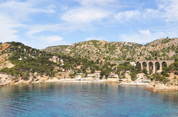 Photo of Petit Mejean cove on the blue coast in France next to Marseille