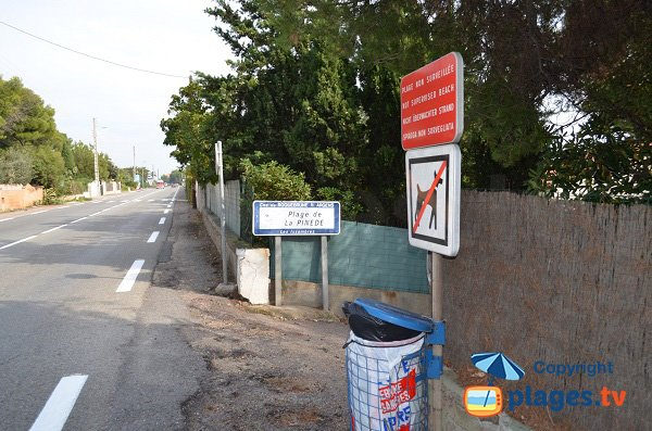 Dogs not allowed on the Pinede beach - Les Issambres