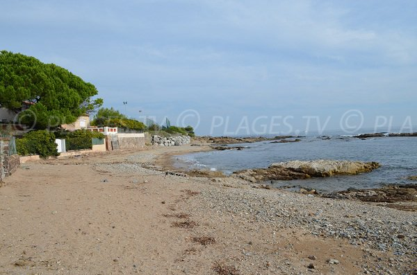 Pinede beach in Les Issambres - France