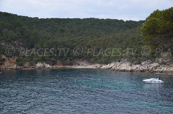 Discreet beach in the calanque of Port d'Alon