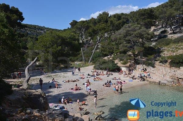 Beach in the cove of Cassis - Port Pin