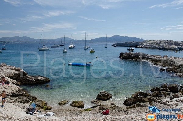 Secret beach in Frioul - Marseille
