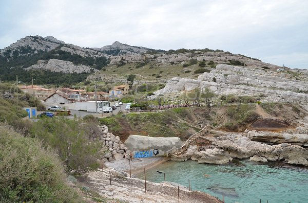 Calanque of Saména in Marseille in France