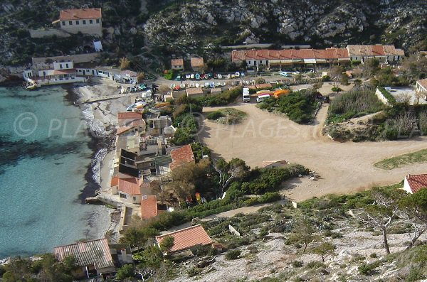 Calanque and beach of Sormiou