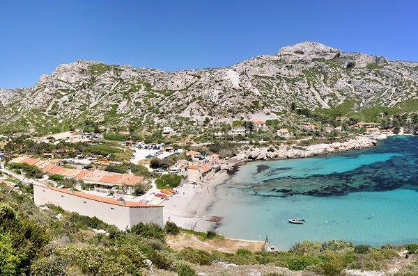 Photo de la calanque de Sormiou (Marseille)