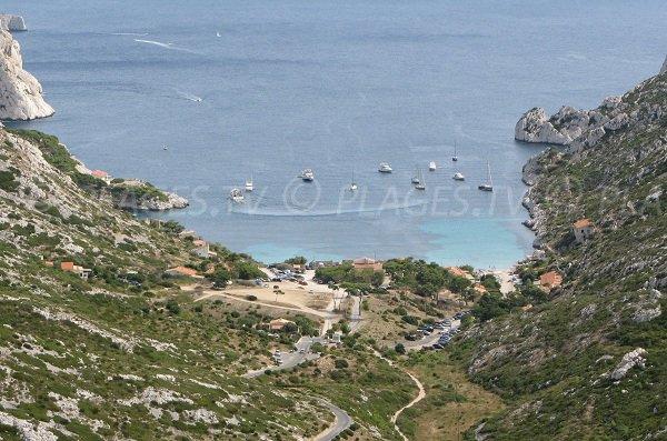 Route de la calanque de Sormiou à Marseille