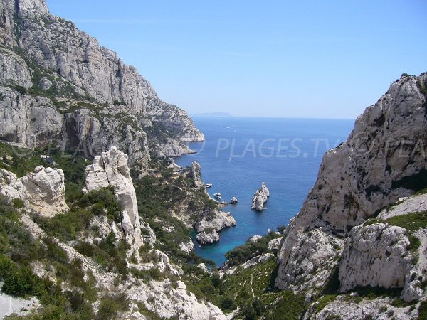 Calanque of Sugiton in Marseille in France