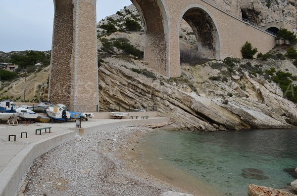 Stone beach in the beach of La Vesse - France