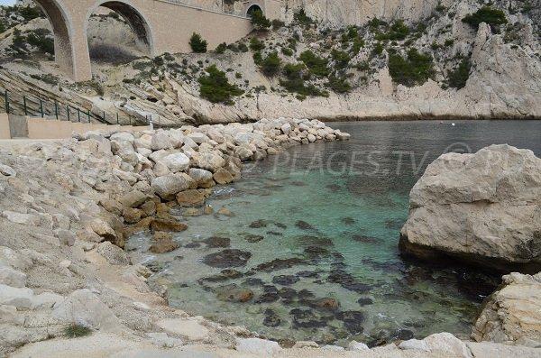 Creek near the port of La Vesse on the blue coast in France