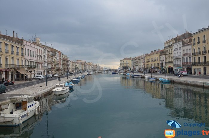 Canal of Sète in France