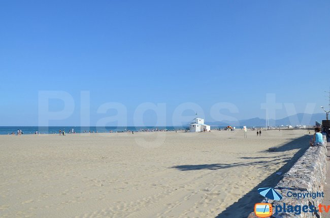 Canet en Roussillon beach in france