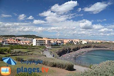 Cap d'Agde avec les falaises et la plage