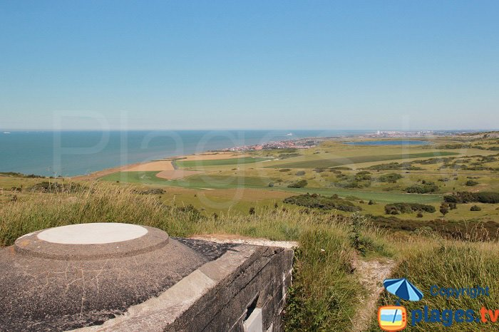 Cap Blanc Nez with view on Sangatte in France