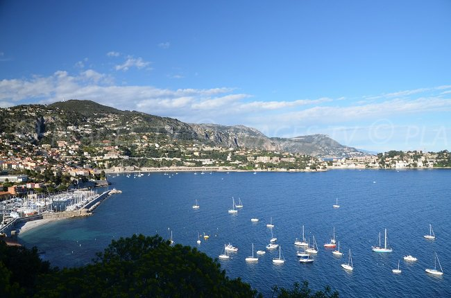 St Jean Cap Ferrat depuis la Corniche de Nice