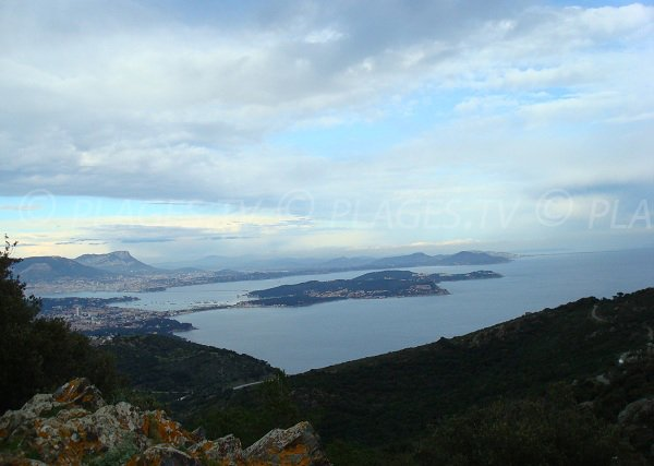 Bay of Toulon and St Mandrier peninsula from Cap Sicié