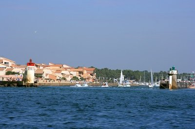 Capbreton et its port  from the sea - France
