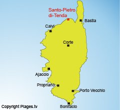 Map of Santo Pietro in Corsica