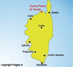 Mappa di Santo Pietro di Tenda in Corsica