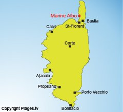 Map of Marine of Albo in Corsica