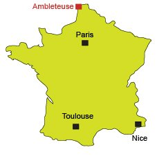 Map of Ambleteuse in France