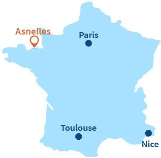 Location of Asnelles in Normandy