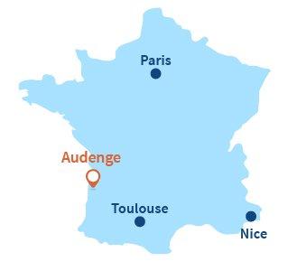 Où se trouve Audenge