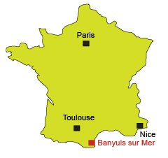 Location of Banyuls sur Mer in France