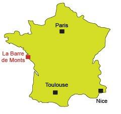Localisation de la Barre de Monts en Vendée
