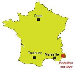Mappa di Beaulieu sur Mer in Francia