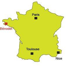 Map of Bénodet in France