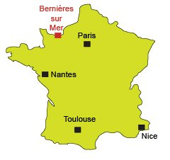 Location of Bernières sur Mer in France